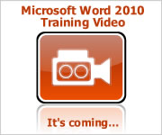 Microsoft Word 2010 Training DVD