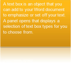 A Styled Text Box In Microsoft Word